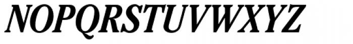 Cheltenham Pro Condensed Bold Italic Font UPPERCASE
