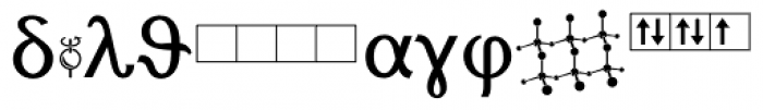 Chemsymbols LT Two Font OTHER CHARS