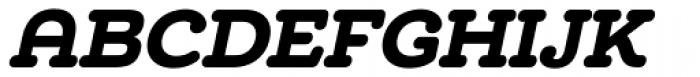 Chennai Slab Black Oblique Font UPPERCASE