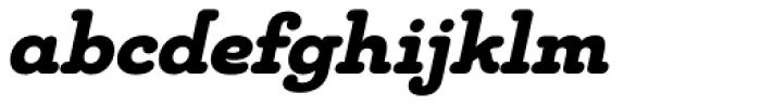 Chennai Slab Black Oblique Font LOWERCASE