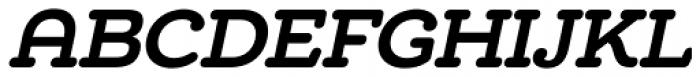 Chennai Slab Bold Oblique Font UPPERCASE