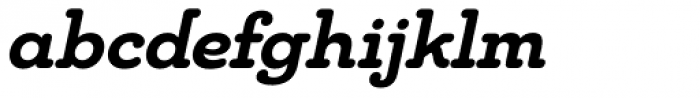 Chennai Slab Bold Oblique Font LOWERCASE