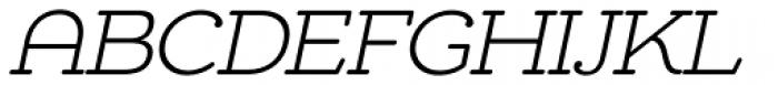 Chennai Slab Light Oblique Font UPPERCASE