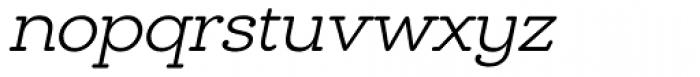 Chennai Slab Light Oblique Font LOWERCASE