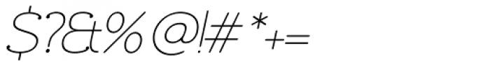 Chennai Slab Thin Oblique Font OTHER CHARS