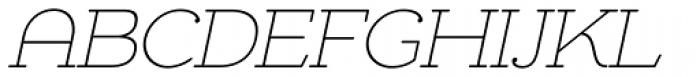Chennai Slab Thin Oblique Font UPPERCASE
