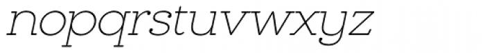 Chennai Slab Thin Oblique Font LOWERCASE