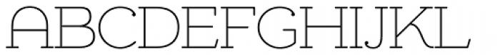 Chennai Slab Thin Font UPPERCASE