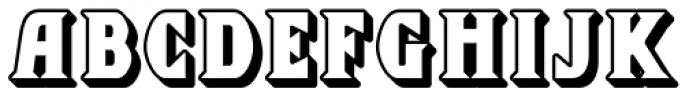 Chequers Embossed Font UPPERCASE
