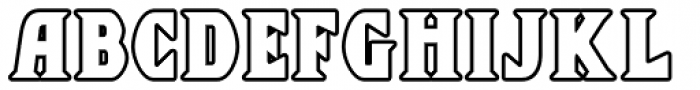 Chequers Outline Font LOWERCASE