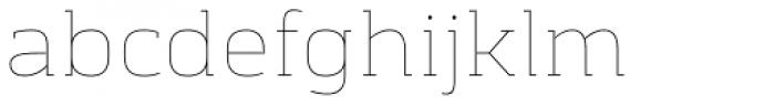 Chercher Hairline Font LOWERCASE