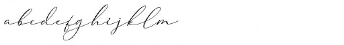 Cherolina Slant Font LOWERCASE