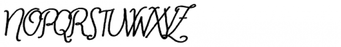 Cherripops Script Bold Italic Font UPPERCASE