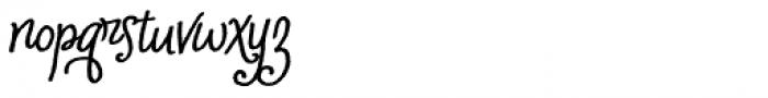 Cherripops Script Bold Italic Font LOWERCASE