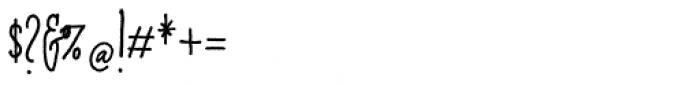 Cherripops Script Skinny Bold Font OTHER CHARS