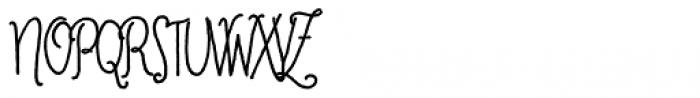 Cherripops Script Skinny Bold Font UPPERCASE