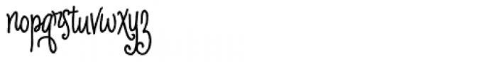 Cherripops Script Skinny Bold Font LOWERCASE