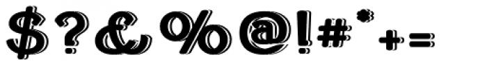 Cherritt Embossed Font OTHER CHARS