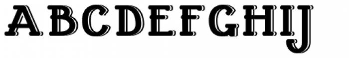 Cherritt Embossed Font UPPERCASE