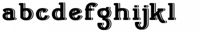 Cherritt Embossed Font LOWERCASE