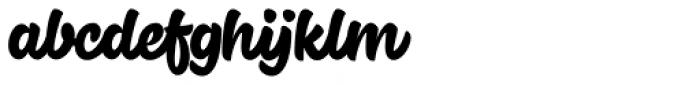 Cherry Brush Font LOWERCASE
