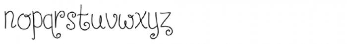Chestnut Font LOWERCASE