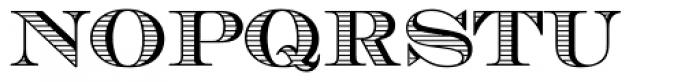 Chevalier Stripes Caps Font UPPERCASE