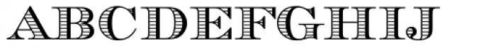Chevalier Stripes Caps Font LOWERCASE
