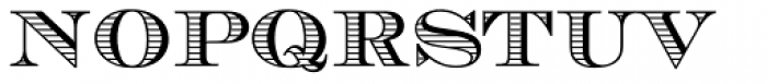 Chevalier Stripes DC D Font LOWERCASE