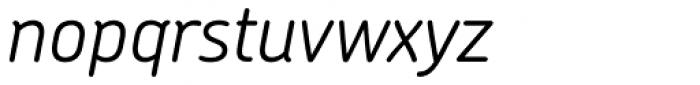 Chevin Pro Light Italic Font LOWERCASE