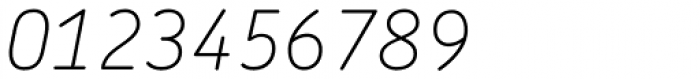 Chevin Pro Thin Italic Font OTHER CHARS