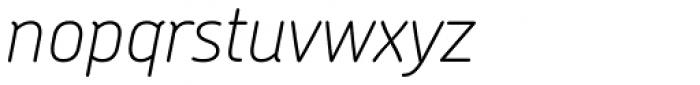 Chevin Pro Thin Italic Font LOWERCASE