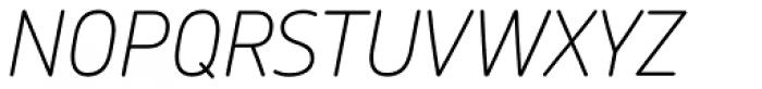 Chevin Std Thin Italic Font UPPERCASE
