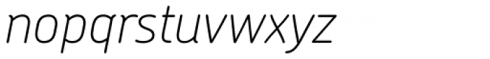 Chevin Std Thin Italic Font LOWERCASE