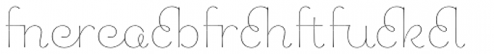 Chic Hand Ligatures Light Font LOWERCASE