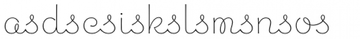 Chic Hand Ligatures Font OTHER CHARS