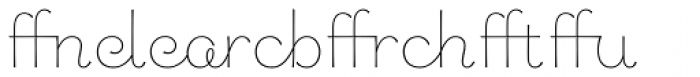 Chic Hand Ligatures Font UPPERCASE