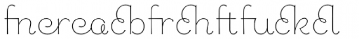 Chic Hand Ligatures Font LOWERCASE