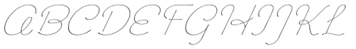 Chic Hand Light Slanted Font UPPERCASE