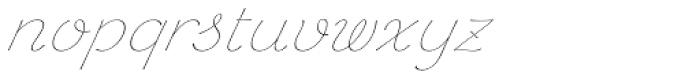 Chic Hand Light Slanted Font LOWERCASE