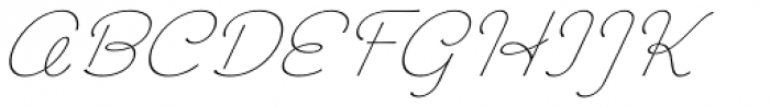 Chic Hand Slanted Font UPPERCASE