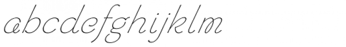 Chic Hand Slanted Font LOWERCASE