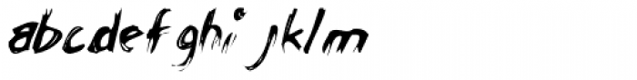 Chicken Scratch AOE Font LOWERCASE
