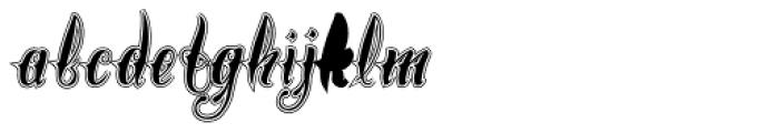 Chika Tattoo College Font LOWERCASE
