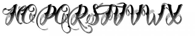 Chika Tattoo Gradiant Shadow Font UPPERCASE