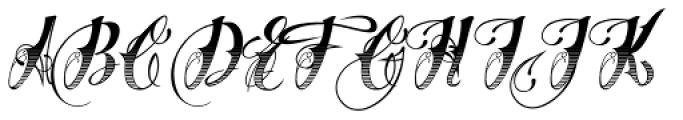 Chika Tattoo Gradiant Font UPPERCASE