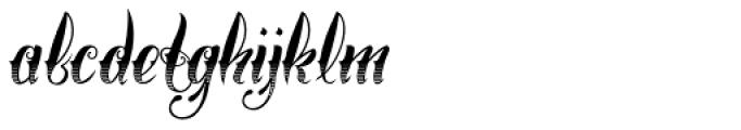 Chika Tattoo Gradiant Font LOWERCASE