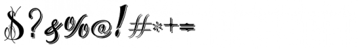 Chika Tattoo Shadow Font OTHER CHARS