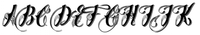 Chika Tattoo Shadow Font UPPERCASE