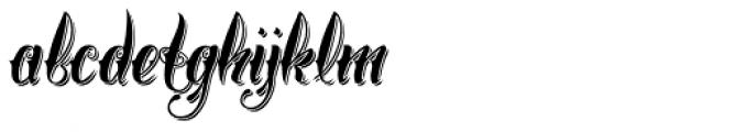 Chika Tattoo Shadow Font LOWERCASE